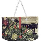 Magnolia Christmas Candle Colonial Williamsburg Weekender Tote Bag
