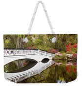 Magnolia Gardens' Bridge Weekender Tote Bag