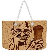 Mahatma Gandhi Coffee Painting Weekender Tote Bag