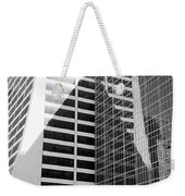 Mahnattan Architecture Black And White Weekender Tote Bag