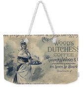 Maid Serving Coffee Advertisement For Woods Duchess Coffee Boston  Weekender Tote Bag