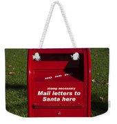 Mail Letters To Santa Here Weekender Tote Bag