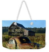 Mail Pouch Barn And Old Cars Weekender Tote Bag
