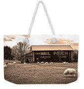 Mail Pouch Tobacco Barn And Sheep Weekender Tote Bag