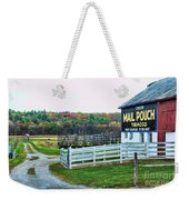 Mail Pouch Tobacco Barn In The Fall Weekender Tote Bag