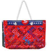 Mailbox On Water Street In Saint John's-nl Weekender Tote Bag