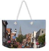 Main Street In Downtown Annapolis Weekender Tote Bag