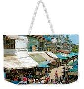 Main Street Marketplace In Tachilek-burma Weekender Tote Bag