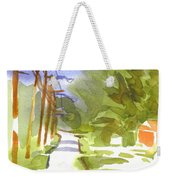 Main Street On A Cloudy Summers Day Weekender Tote Bag