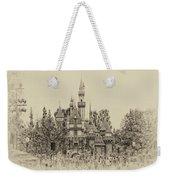 Main Street Sleeping Beauty Castle Disneyland Heirloom 01 Weekender Tote Bag
