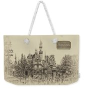Main Street Sleeping Beauty Castle Disneyland Heirloom 03 Weekender Tote Bag