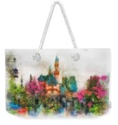 Main Street Sleeping Beauty Castle Disneyland Photo Art 01 Weekender Tote Bag