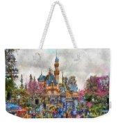 Main Street Sleeping Beauty Castle Disneyland Photo Art 02 Weekender Tote Bag