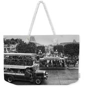 Main Street Transportation Disneyland Bw Weekender Tote Bag