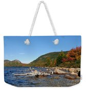 maine 1 Acadia National Park Jordan Pond in Fall Weekender Tote Bag