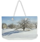 Maine Apple Trees Covered In Ice And Snow Weekender Tote Bag