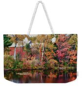 Maine Barn Through The Trees Weekender Tote Bag by Jeff Folger