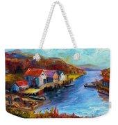 Maine Harbor Weekender Tote Bag