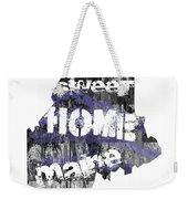 Maine Map Cool Weekender Tote Bag