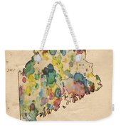Maine Map Vintage Watercolor Weekender Tote Bag