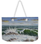 Crashing Waves At Pemaquid Point Maine Weekender Tote Bag