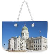 Maine State Capitol Building In Winter Augusta Weekender Tote Bag