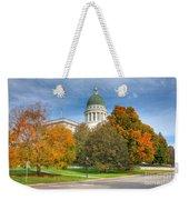 Maine State House Vii Weekender Tote Bag