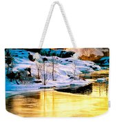Maine Winter Along The Androscoggin River Weekender Tote Bag