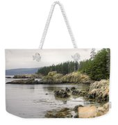 Maine's Beautiful Rocky Shore Weekender Tote Bag