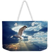 Majestic Bird Against Sunset Sky Weekender Tote Bag