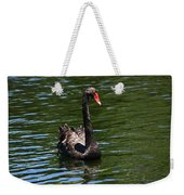 Majestic Black Swan Weekender Tote Bag