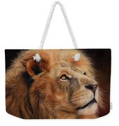 Majestic Lion Weekender Tote Bag by David Stribbling