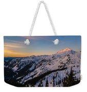Majestic Mount Baker Sunrise Light Weekender Tote Bag
