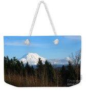 Majestic Mount Rainier Weekender Tote Bag