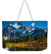 Majestic Mount Shuksan Weekender Tote Bag by Inge Johnsson