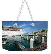 Majesty Of The Seas Docked At Key West Florida Weekender Tote Bag
