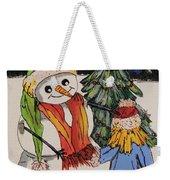Make A Wish Snowman Weekender Tote Bag