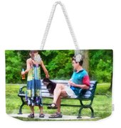 Making A New Friend In The Park Weekender Tote Bag
