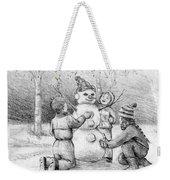 Making A Snowman Weekender Tote Bag