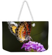 Malay Lacewing On A Flower  Weekender Tote Bag