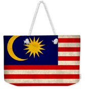 Malaysia Flag Vintage Distressed Finish Weekender Tote Bag