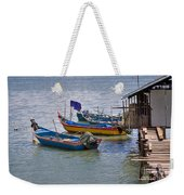 Malaysian Fishing Jetty Weekender Tote Bag
