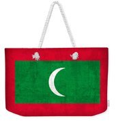 Maldives Flag Vintage Distressed Finish Weekender Tote Bag