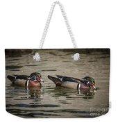 Male Adult Wood Ducks Weekender Tote Bag