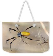 Male And Female Golden Silk Spiders Weekender Tote Bag