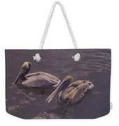 Male And Female Pelicans Weekender Tote Bag