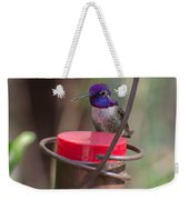 Male Costa Hummingbird Weekender Tote Bag