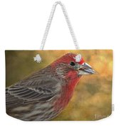 Male Finch With Seed Weekender Tote Bag