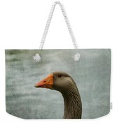 Male Graylag Goose Profile Weekender Tote Bag by Denyse Duhaime