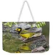 Male Hooded Warbler Weekender Tote Bag